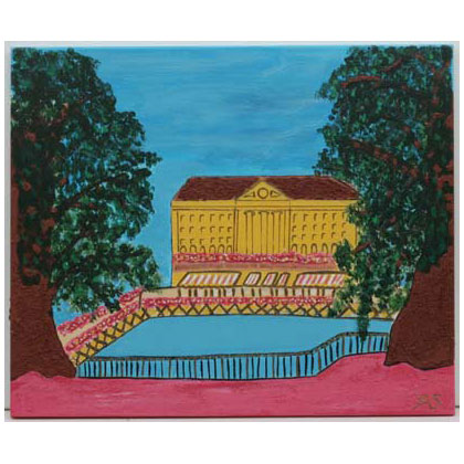 A006 - Les Bergues - 60 x 50cm - 2004 acrylic on canvas - Sold