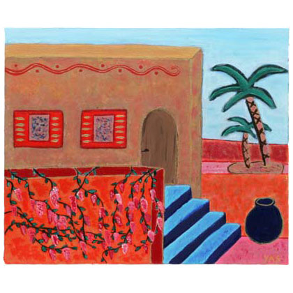 A007 - Casita - 46 x 55cm - 2002 acrylic on canvas - Available