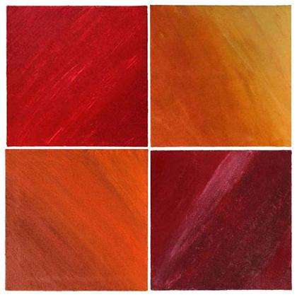 C012 - Quadriptyque 01 - 4 x 50 x 50cm - 2002 acrylic / sand on canvas - Available