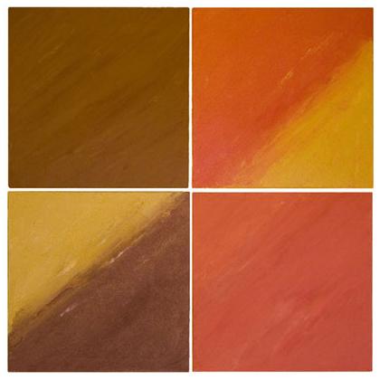 C012 - Quadriptyque 02 - 4 x 50 x 50cm - 2002 acrylic / sand on canvas - Sold