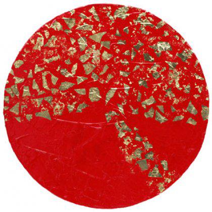 D014 - Galaxie Elliptique 1 - 50cm diam. - 2005 mixed media on canvas - Available