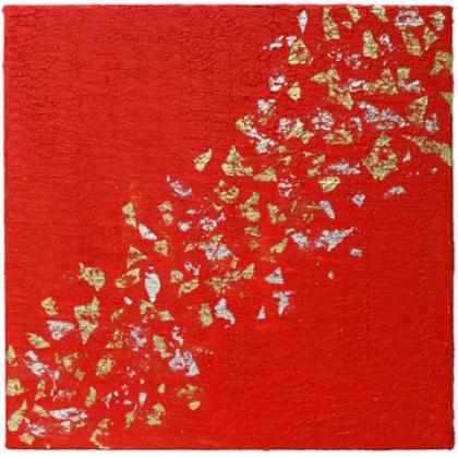 D023 - Pluie d'Etoiles - 50 x 50cm - 2005 mixed media on canvas - Sold