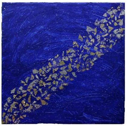 D025 - Poussière d'Etoile 2 - 2005 mixed media on canvas - Sold