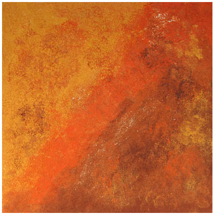 F007 - Volcano - 80 x 80cm - 2010 mixed media on canvas - Private Collection