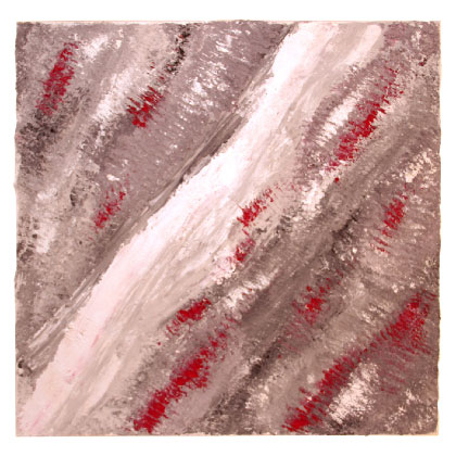 F017 - Silver-River - 100 x 100cm - 2012 mixed media on canvas - Available